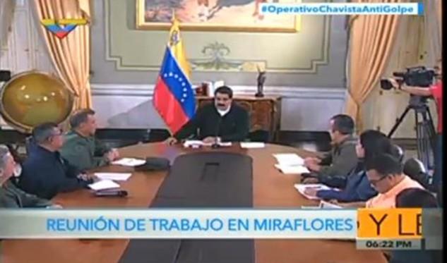 Maduro muestra pruebas de presunto plan desestabilizador