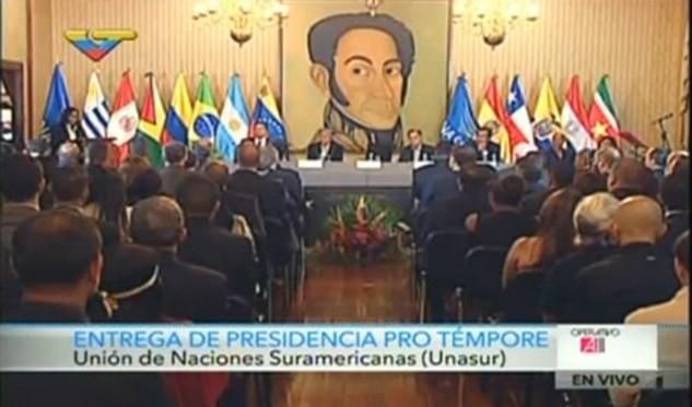Venezuela entrega presidencia pro témpore de Unasur a Argentina