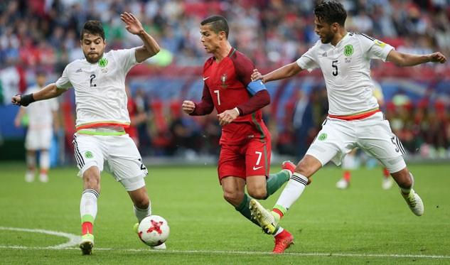 Un empate con emocionante final — Portugal-México