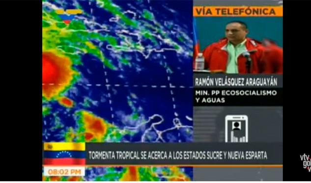 Alerta verde ante posible llegada de tormenta tropical al país — Velásquez