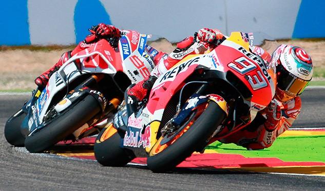 La posible vuelta de Rossi eclipsa el pulso Márquez-Dovizioso en Aragón