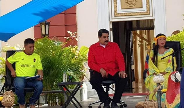 Maduro pide al rey de España indemnizar a indígenas
