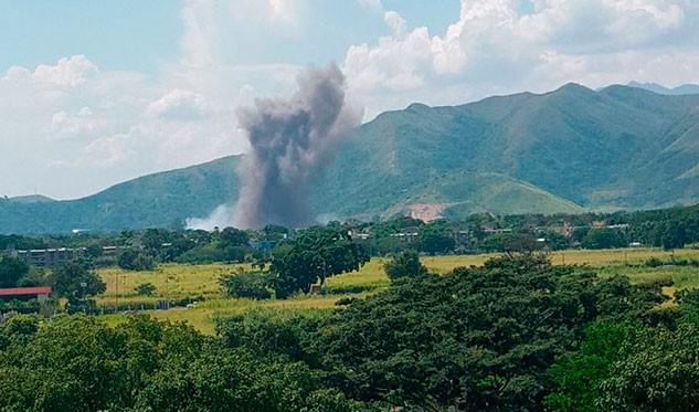 Reportan fuerte explosión en el arsenal de Cavim en Aragua