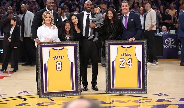 Lakers retirarán camisetas que utilizó Kobe Bryant — NBA